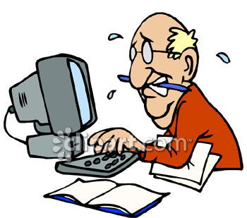 0060-0808-1915-1235_Man_Working_on_a_Computer_Sweating_to_Meet_a_Deadline_clipart_image.jpg